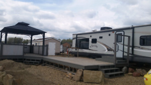 RV Lot for Rent at Dorchester Resort near Pigeon Lake