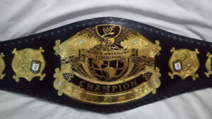 New WWF Undisputed Wrestling Championship Title 2mm Gold Plated