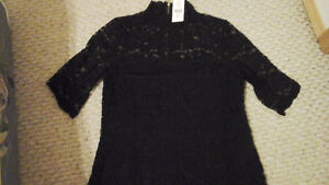 BRAND NEW SUZY Shier Black Lace top