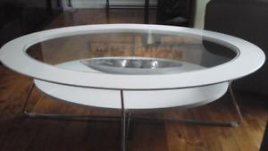 Table de salon blanche lustré