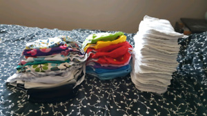 25 Alva cloth diapers and inserts