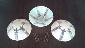 FROSTED VINTAGE CEILING LIGHT SHADES