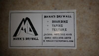 Experienced drywall taping texture team