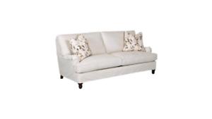 "Brand New 82"" Down Cotton Khaki Sofa"