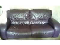 3 seater purple sofa