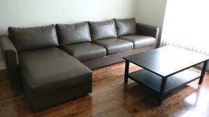 4seat sectional sofa couch and coffee table like new!