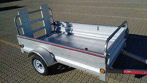 """Utility Trailer 4' x 7' with fold down front gate EXPAND TO 8'6"""""""