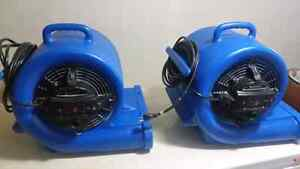 2 Floor Air Movers