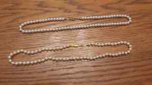 Real pearl necklaces