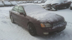 JUST IN FOR PARTS 2001 SUBARU LEGACY GT @ PIC N SAVE WOODSTOCK