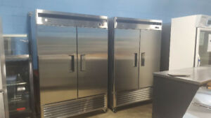 MATCHING DOUBLE DOOR FREEZER AND COOLER SET ( NEW )