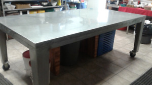 Large Stainless Steel Prep/working Table