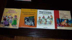 Livres d'étude. Cours Éducation à l'enfance