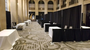 Pipes and Drapes for trade show booths for sale