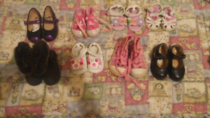 7 pairs of Babygirl shoes