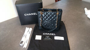 Chanel Petite Shopping Tote w/ Gold Hardware - Like New