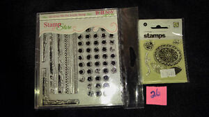 "Clear Stamps ""dis-Stress Me Out"" for Scrapbooking Card NEW"