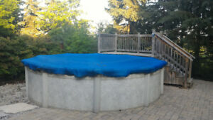 15 ft pool with deck and all accessories