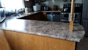 """U"" SHAPED KITCHEN COUNTERS and sink"