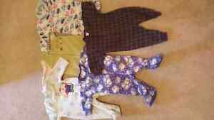 Boys winter pajamas - 3 to 6 months - 5 pieces