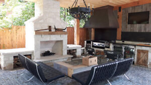 Natural Stone Fireplaces and Custom Fire Pits