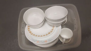 IKEA/Corelle Dishes Good Condition -- Full Set + Extra