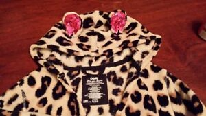 Justice Leopard Print Robe - Size 8-10