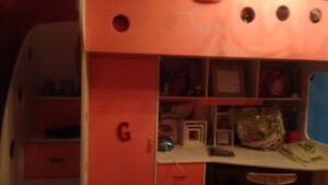 Pink loft bed from jysk.... New condition
