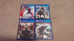 4 Games for sale (cheap, intact disks)
