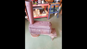 Pot belly wood stove