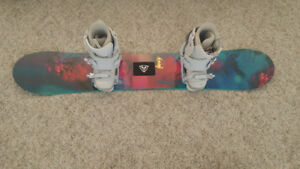 Womens Snowboard, boots, bindings