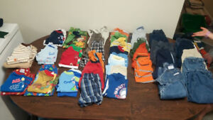 Lot of boys clothes size 18 month. Over 50 pieces.
