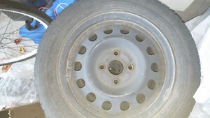 175 65R 14 Tires with rims with 4 bolts Kitchener / Waterloo Kitchener Area image 1