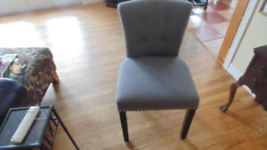 GREY CHAIR  LIKE NEW RARELY USED