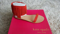 Kate Spade fringed red suede shoes size US 9.5 - Brand New