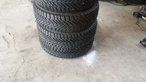 Set of 4 winter tires like brand new condition