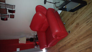 Comfortable red leather chair for sale