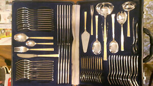 24 K Gold Plated Flatware For 12