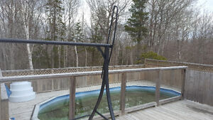 31ft oval pool and deck