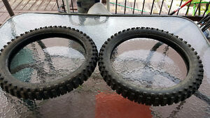 TIRES for DIRT BIKES, good as brand new - 2 pieces