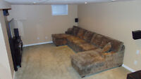 Beautiful lightly used Home Theatre Couch