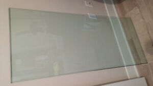 """Glass Table Top - 24"""" x 56"""" Beveled Edge"""
