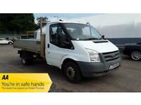 2008 Ford Transit 350 MWB TIPPER CHASSIS CAB Diesel Manual