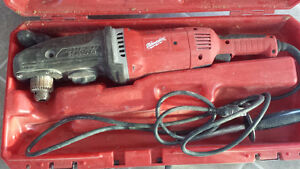 """1/2"""" Milwaukee Super Hawg Drill with Carrying Case 1680-20"""