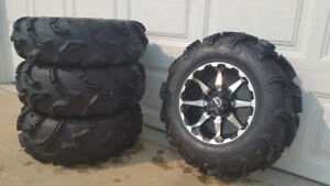 Maxxis Zilla atv tires on STI HD rims. Like new!