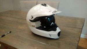 hjc helmet with 509 goggles