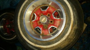 Two sets of rally rims with the trim rings