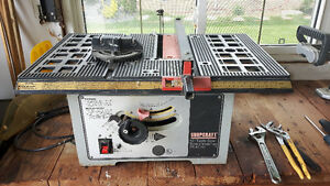 two radial arm saws and table saw for sale