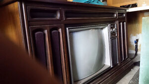 Vintage Floor Model TV and Stereo