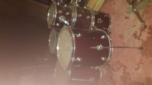 Two drum sets